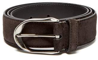 Ermenegildo Zegna Suede Belt - Mens - Brown