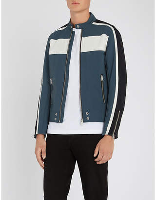 Diesel Panelled shell biker jacket