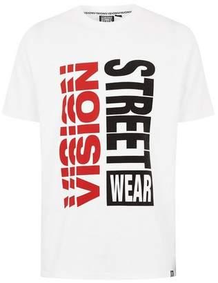 Topman Mens VISION STREET WEAR White 80's Logo T-Shirt