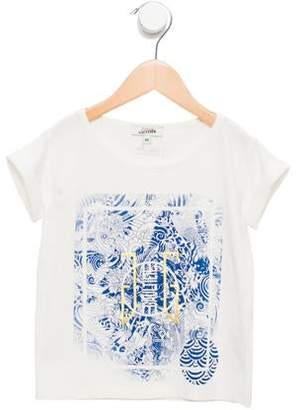 Junior Gaultier Girls' Printed Scoop Neck T-Shirt