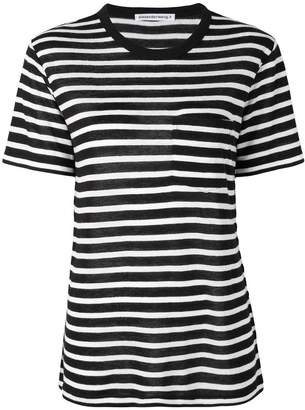Alexander Wang horizontal striped T-shirt