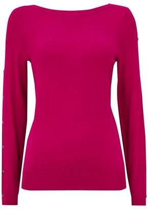 Wallis Pink Stud Sleeve Detail Jumper