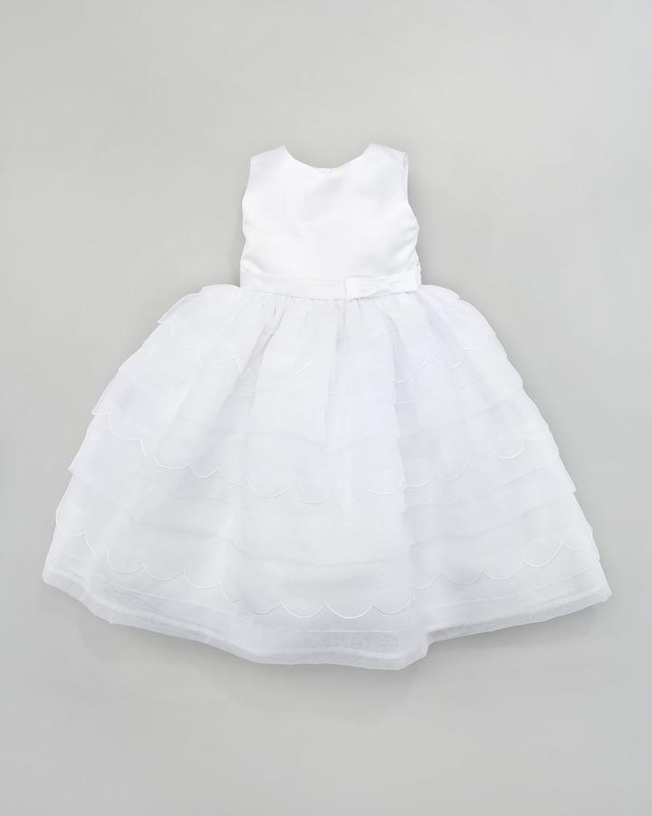 Joan Calabrese Scalloped Tea-Length Dress, 6-24 Months
