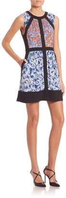 BCBGMAXAZRIA Donatella Printed Dress