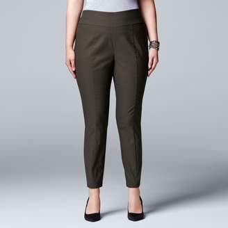 Vera Wang Plus Size Simply Vera Modern Fit Skinny Ankle Pants