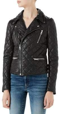 Gucci Quilted Leather Moto Jacket