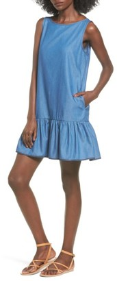 Women's Bp. Chambray Drop Waist Dress $49 thestylecure.com