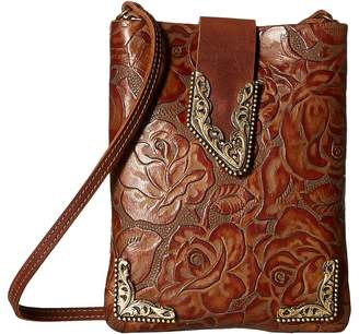 Leather Rock Casey Cell Pouch/Crossbody Cross Body Handbags