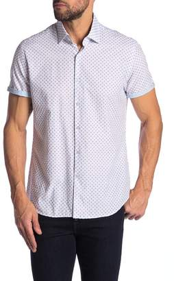 Stone Rose Printed Dotted Short Sleeve Shirt