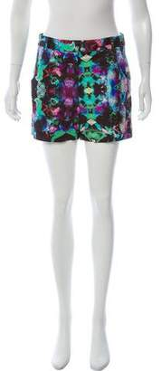 Milly High Rise Printed Mini Shorts