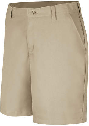 Red Kap Womens Industrial Plain-Front Shorts - Plus