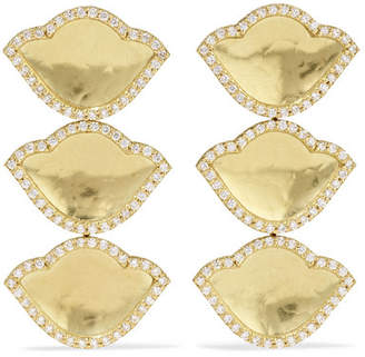Amrapali Karana Lotus 18-karat Gold Diamond Earrings