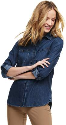 Lands' End Lands'end Women's Petite Chambray Shirt
