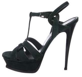 Saint Laurent Tribute 105 Suede Sandals
