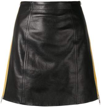 Givenchy side stripe mini skirt