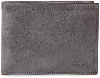 Longchamp Distressed Leather Bifold Wallet