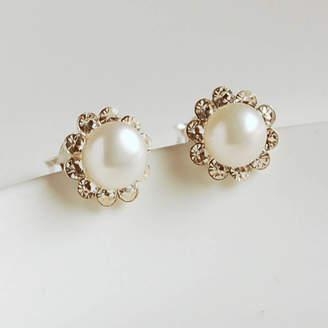 a0e18b857 Highland Angel Pearl And Diamante Stud Earrings