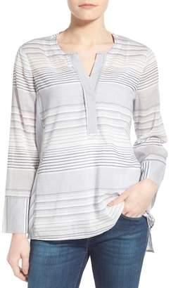 NYDJ Regatta Stripe Split Neck Tunic
