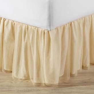 Pottery Barn Teen Gold Tulle Bedskirt, Full