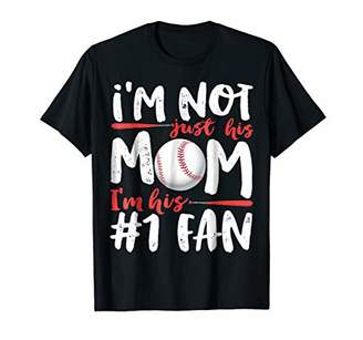 I'm Not Just His Mom Number 1 Fan Baseball T shirt Women Tee