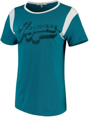 Retro Sport Unbranded Women's Junk Food Teal/White Jacksonville Jaguars T-Shirt