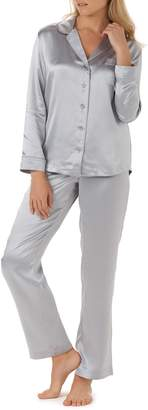 The White Company Piped Silk Pajamas
