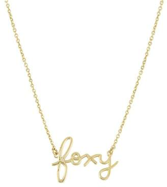 Sydney Evan Syd by 14K Yellow Gold Plated Sterling Silver Diamond 'Foxy' Pendant Necklace - 0.015 ctw