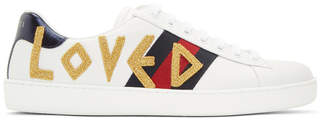 Gucci White Loved New Ace Sneakers