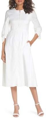Blend of America CAARA Zip Front Linen Dress