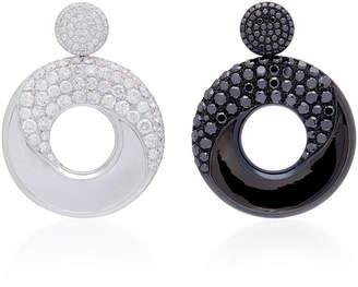 Lauren X Khoo Atlantic Pacific Mismatched 18K Gold And Diamond Drop Earrings