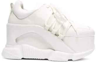 Marques Almeida Marques'almeida - Leather Platform Trainers - Womens - White