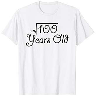 Square Root of 100 Years Old Shirt | 10 Yrs Birthday Gift