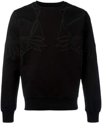 Les Hommes geometric chest print sweatshirt
