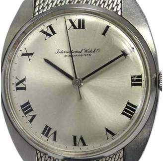 IWC Stainless Steel Hand-Winding 19mm Mens Watch $1,020 thestylecure.com