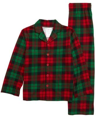Us Angels Plaid Two-Piece Pajamas (Toddler Boys, Little Boys & Big Boys)