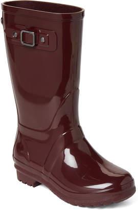 Igor Toddler/Kids Girls) Burgundy Buckle Rain Boots