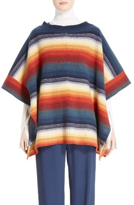 Women's Chloe Stripe Felted Wool & Cashmere Poncho $1,350 thestylecure.com
