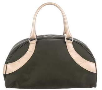 Longchamp Leather-Trimmed Nylon Bowler Bag