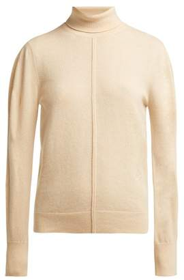 Chloé Iconic Roll Neck Cashmere Sweater - Womens - Beige