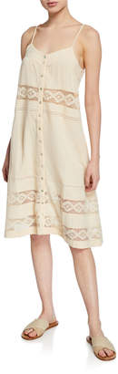 Knot Sisters Floral-Embroidered Spaghetti Strap Dress