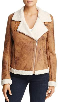 Bagatelle Faux-Shearling Biker Jacket - 100% Exclusive