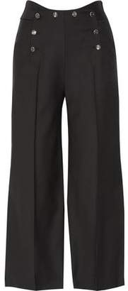 Temperley London Opus Wool-Blend Twill Wide-Leg Pants