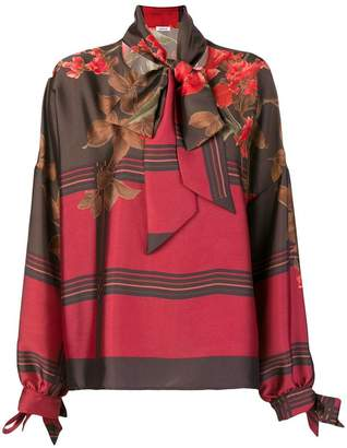 P.A.R.O.S.H. printed scarf blouse