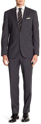 Ted Baker Jay Gray Checkered Two Button Notch Lapel Trim Fit Suit