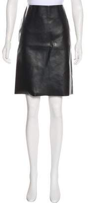 Hache Faux Leather Knee-Length Skirt