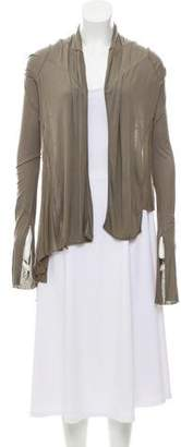 Rick Owens Lilies Open Front Draped Cardigan
