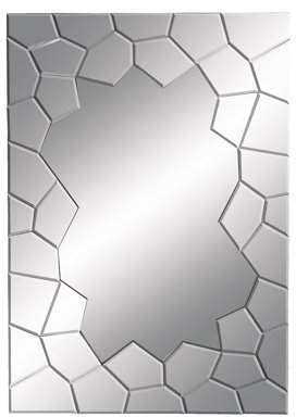 DecMode Decmode Contemporary 40 x 28 Inch Wood and Glass Wall Mirror
