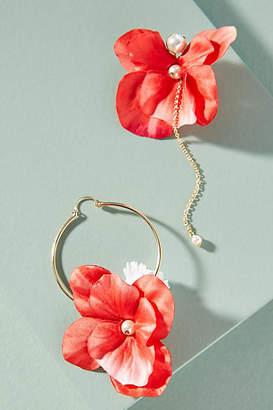 Anton Heunis Floral Arrangement Asymmetrical Drop Earrings