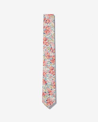 Express Slim Flower Petal Liberty Fabric Cotton Tie