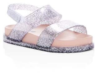 Mini Melissa Girls' Mini Cosmic Glitter Slingback Pool Slide Sandals - Walker, Toddler